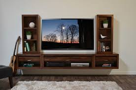 image of simple floating tv stand wall mount