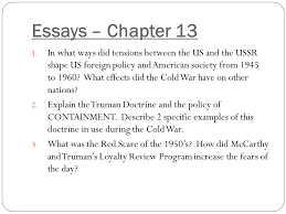 the cold war begins chapter ppt video online  2 essays chapter