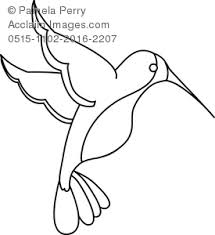 Small Picture Art Illustration of a Hummingbird Coloring Page