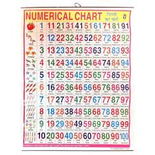 100 Chart Poster Large Numerical Chart Poster English Hindi 57 X 45cm For The Wall With Colored Illustrations
