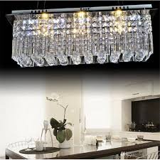 luxury rectangle chandelier lighting elegant modern k9 rectangle led for crystal rectangular chandelier