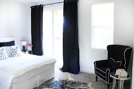 Amazing of Curtains For White Bedroom Decor with Black And White ...