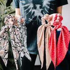 Silk Scarf Scrunchie - Avis Lane Boutique
