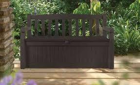 outdoor storage bench patio garden