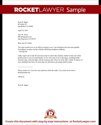 sample letter employee employee warning letter warning letter to employee with sample