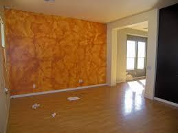 ugly faux sponge paint job orange walls phoenix arizona home house real estate photo