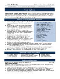 Certified Process Design Engineer Sample Resume safety engineer resumes Colombchristopherbathumco 86
