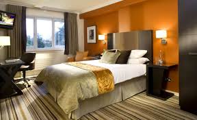 Paint Color Combinations For Bedrooms Captivating Bedrooms Color Ideas With Orange And White Wall Color