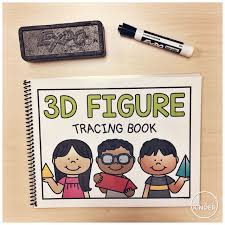 a pinch of kinder 3d figure tracing book 3d shape center for kindergarten