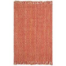 natural fiber rust 8 ft x 10 ft area rug
