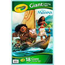 These oversized pages feature large, detailed images that can be colored with crayons, colored. Crayola Giant Coloring Pages Featuring Disney S Moana Walmart Com Coloring Pages Disney Moana Crayola