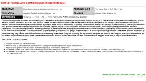 Testing And Commissioning Engineer Resume & Cover Letter | Cv ...