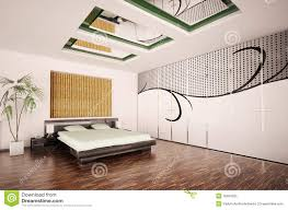 Modern Bedroom Interior Modern Bedroom Interior 3d Render Royalty Free Stock Photo Image