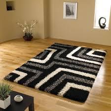 cool rug designs. Amazon.com: Very Large Quality Shaggy Modern Rug In Black Grey 6\u00277 Cool Designs C