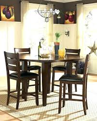 counter height table round black glass top counter height dining table counter height round dining collection