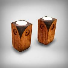 wooden candle holders 01