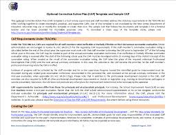 Corrective Action Plan Template Free Templates At
