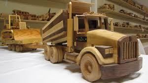 wooden dump truck trailer with cat set