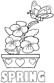 Coloring Spring Coloring Sheets Flowers Pages Free Printable To