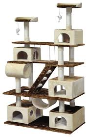 Cat Tree House With Swing Traditional Cat Furniture by Go