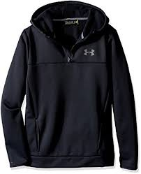 under armour youth hoodie. under armour boys\u0027 storm fleece 1/4 zip hoodie, black (001 youth hoodie