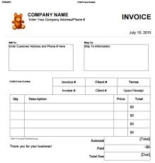 invoice forms 27 day care invoice template collection demplates