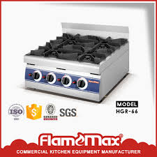 China 6 Burner Table Top Gas Range Stainless Steel Cooker Hgr 66