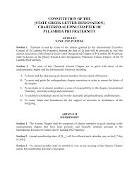 Membership Dues Template Alumni Association Constitution Template