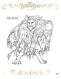 Small Picture Beauty And The Beast Coloring Page The Beast Disney