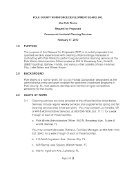 Sample Letter Of Proposal For Service Cleaning Service Contract Sample Janitorial Agreement By