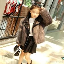 kids faux fur coat new kids fur coats boys girls leather faux fox fur motorcycle jackets
