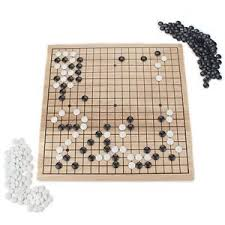 Game With Stones And Wooden Board NEW Go Game 100 x 100 Wooden Board Strategy Felt Stones FREE 49