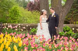 may wedding party with tulips at boerner botanical gardens hales corners wisconsin