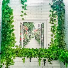 UK Artificial Ivy Vine Leaf Garland Green <b>Rattan Plants</b> Fake Foliage ...