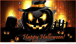 happy halloween picture pumpkin with saying