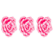 pink flowers 3d adhesive wall art