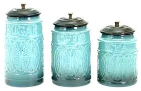 colorful kitchen canisters green vintage milk glass