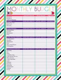 Budget Sheet Free Printable Free Printable Monthly Budget Worksheet The Newninthprecinct