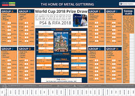 World Cup Planner Chart 2018 Rainclears World Cup Wall Planner Prize Draw Roofing Today