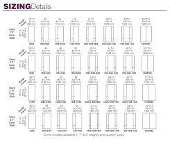 Custom Size Chart Entry Door Size Chart Ihopecounselling Co