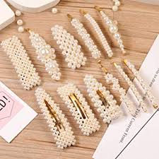 12 Pcs Pearl Hair Clips Large Hair Clips Pins Barrette ... - Amazon.com