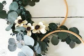 eucalyptus hoop wreath diy tutorial