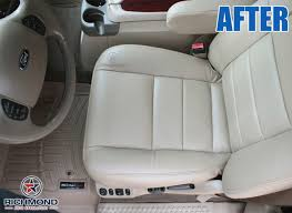 2002 2004 ford excursion limited leather seat cover driver bottom tan