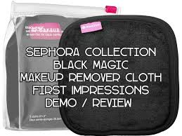 sephora collection black magic makeup remover cloths first impression demo review you