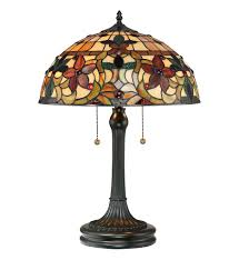 tiffany stained glass lamp. Quoizel - TF878T Kami Vintage Bronze Table Lamp Tiffany Stained Glass