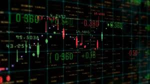 Table And Bar Graph Of Stock Chart Exchange Market Indices Animation Background