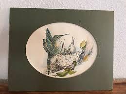MERLE WHEELER HUMMINGBIRD HAND PAINTED WATERCOLOR ON PRINT PAINTING! | eBay