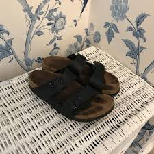 birkenstock size 36 the original birkenstock size 36 uk 3 in black leather 2 depop