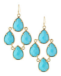 kendra scott teardrop chandelier earrings turquoise in