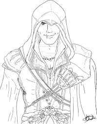 Assassins Creed 3 Coloring Sheet Books Worth Reading